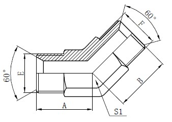 산업용 튜브 피팅 도면