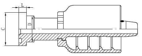 SS 튜브 커넥터 도면